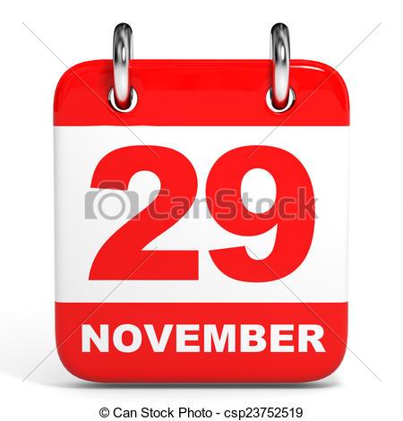 Clipart calendar november. Of on white background