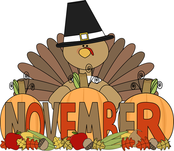Happy thanksgiving words clipart banner free library Is it Really November? (Clutter-Free Classroom) | November, December ... banner free library