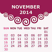 Clipart calendar november 2014 jpg stock November Clip Art EPS Images. 20,171 november clipart vector ... jpg stock