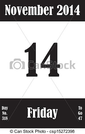 Clipart calendar november 2014 transparent download Vector Clip Art of 19 November 2014 Calendar Page with number of ... transparent download