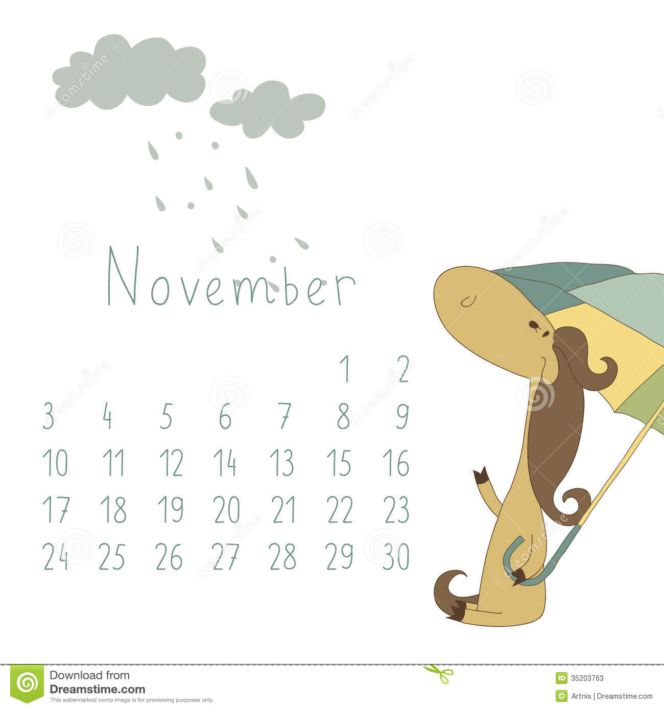 Clipart calendar november 2014 clip library Calendar For November 2014. Year Of The Horse. Stock Photos ... clip library