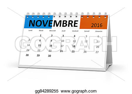 Stock illustration french language. Clipart calendar november 2016