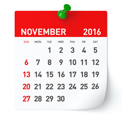 Clipart calendar november 2016. Photos illustrations et vid