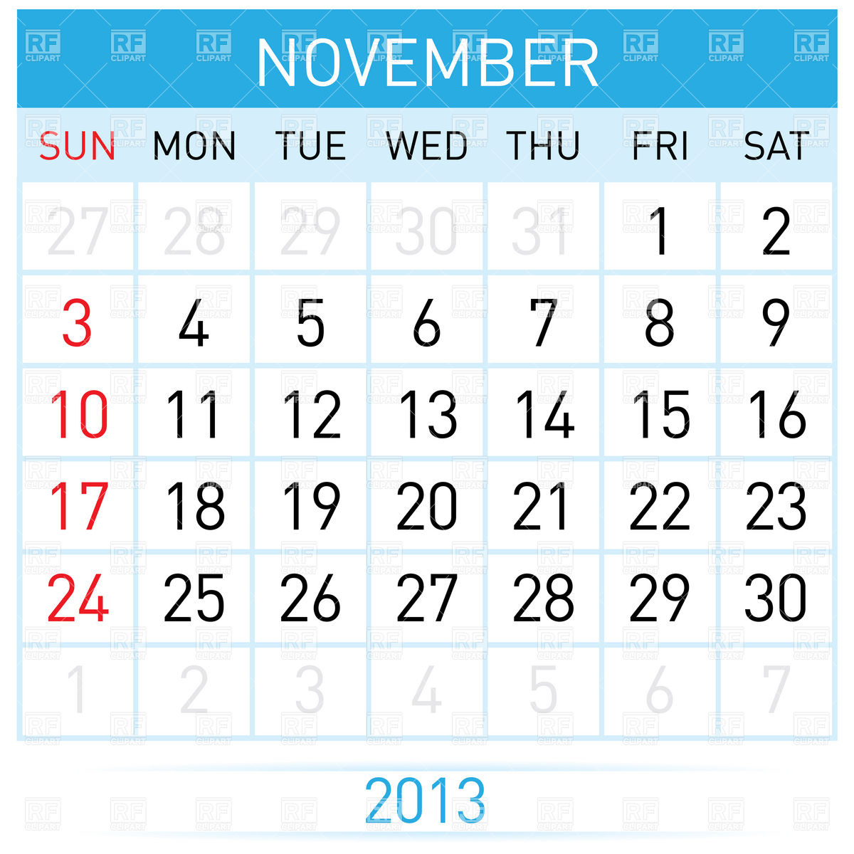 Kid month download royalty. Clipart calendar november