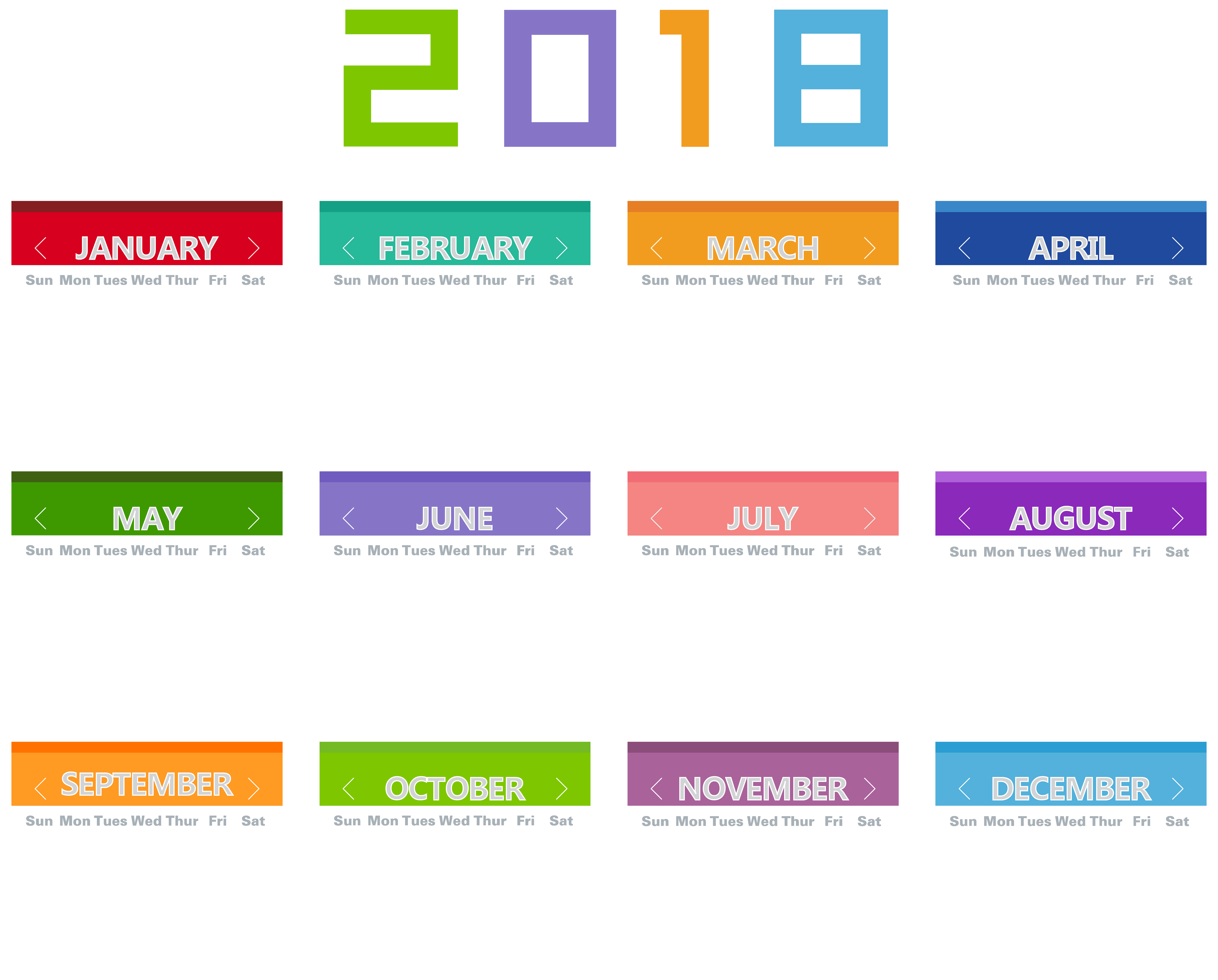 Clipart october calendar free stock 2018 Calendar Transparent PNG Clip Art Image | Gallery Yopriceville ... free stock