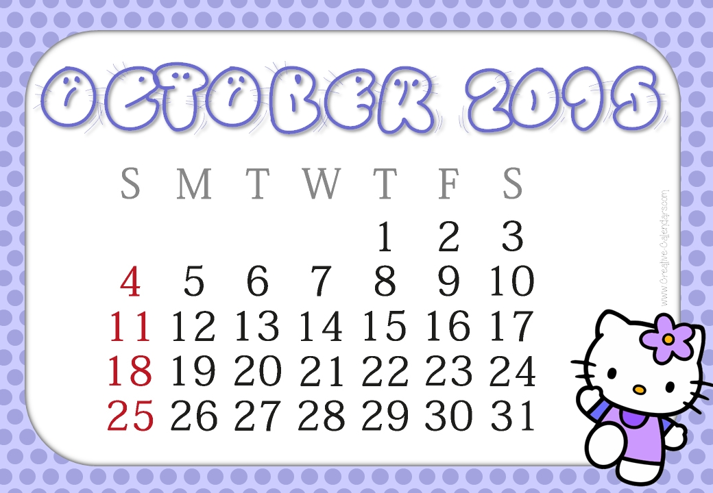 Clipart calendar october 2015 image transparent Free printable october 2015 calendar clipart - ClipartFest image transparent