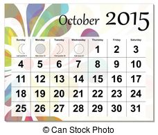 Clipart calendar october 2015 jpg freeuse library October 2015 Illustrations and Clipart. 1,308 October 2015 royalty ... jpg freeuse library
