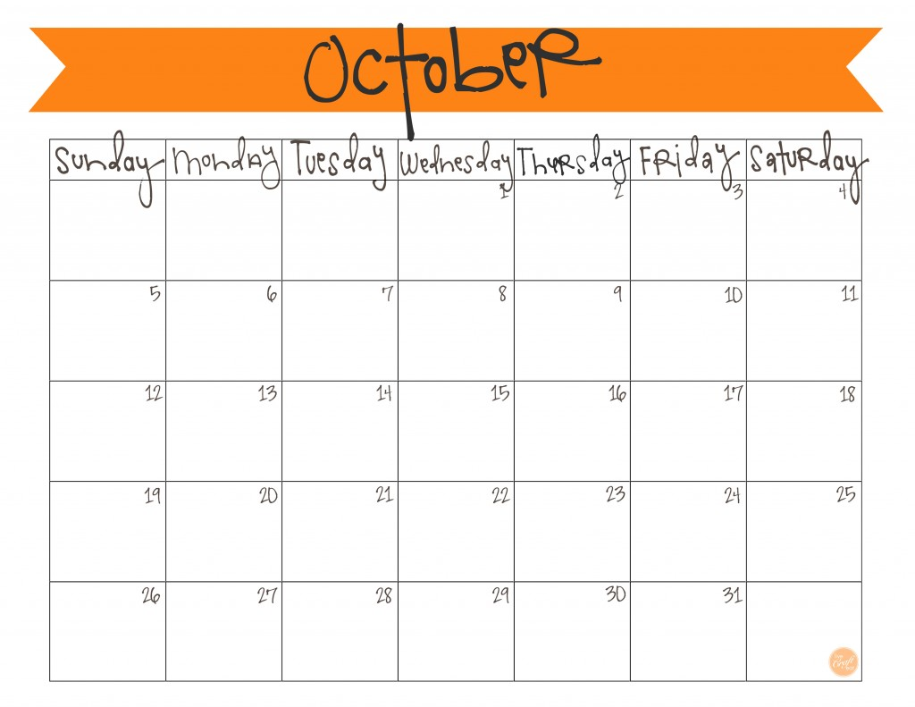 Clipart calendar october 2015 jpg black and white Free printable october 2015 calendar clipart - ClipartFox jpg black and white