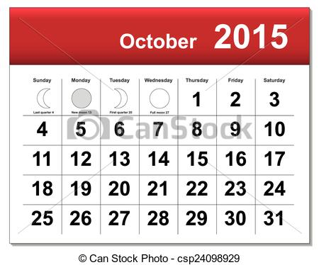 Clipart calendar october 2015 clip royalty free download Calendar clipart 2015 - ClipartFest clip royalty free download