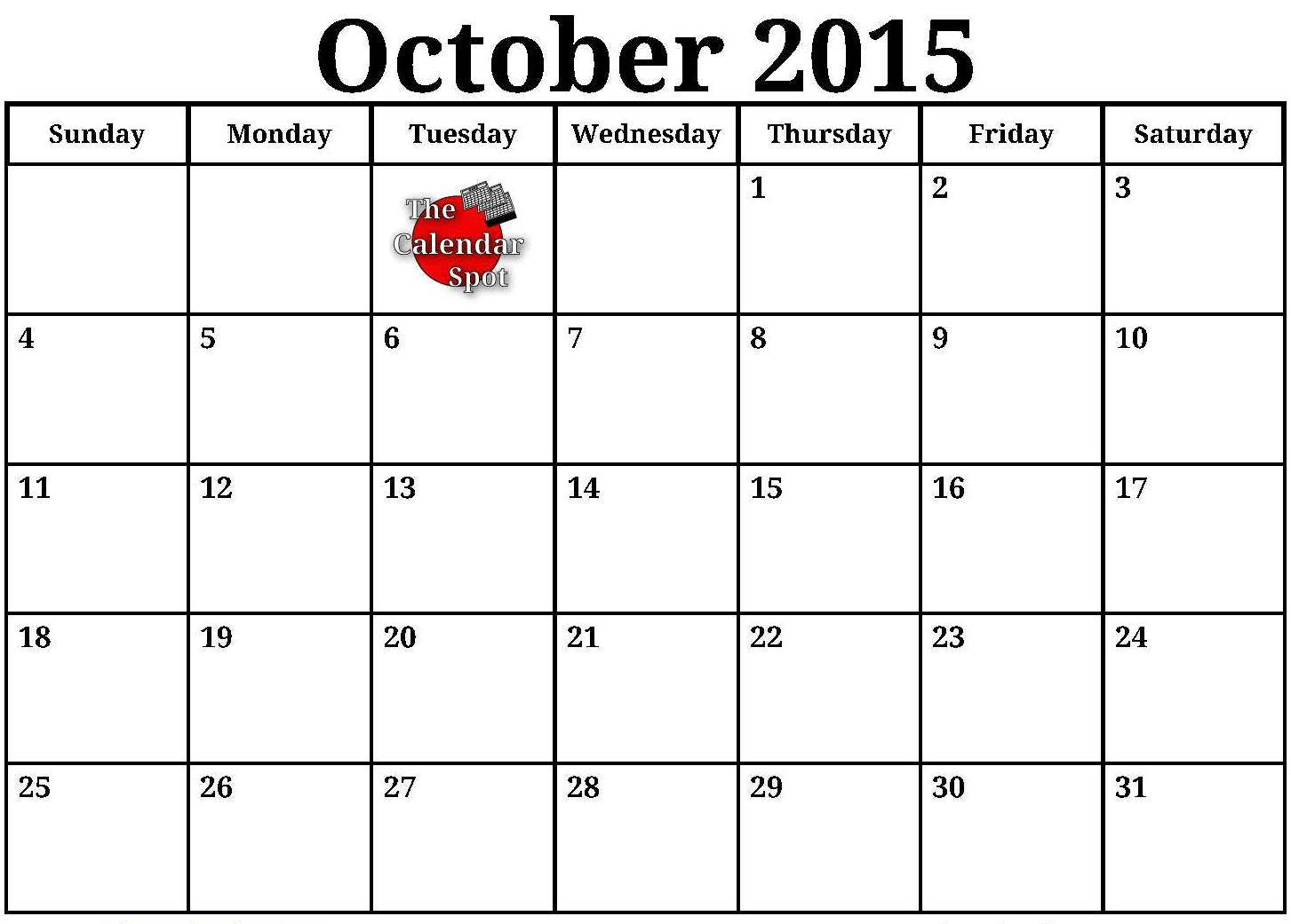 Clipart calendar october 2015 png royalty free stock 2015 calendar clipart black and white - ClipartFest png royalty free stock