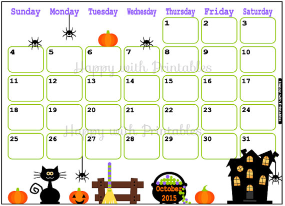 Clipart calendar october 2015 picture Cute october 2015 clipart - ClipartFox picture