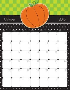 Clipart calendar october 2015 svg freeuse download Cute and Crafty 2015 Printable Calendar | Calendar, Merry and ... svg freeuse download