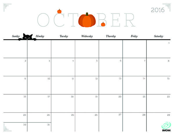 Clipart calendar october 2016.  best images about