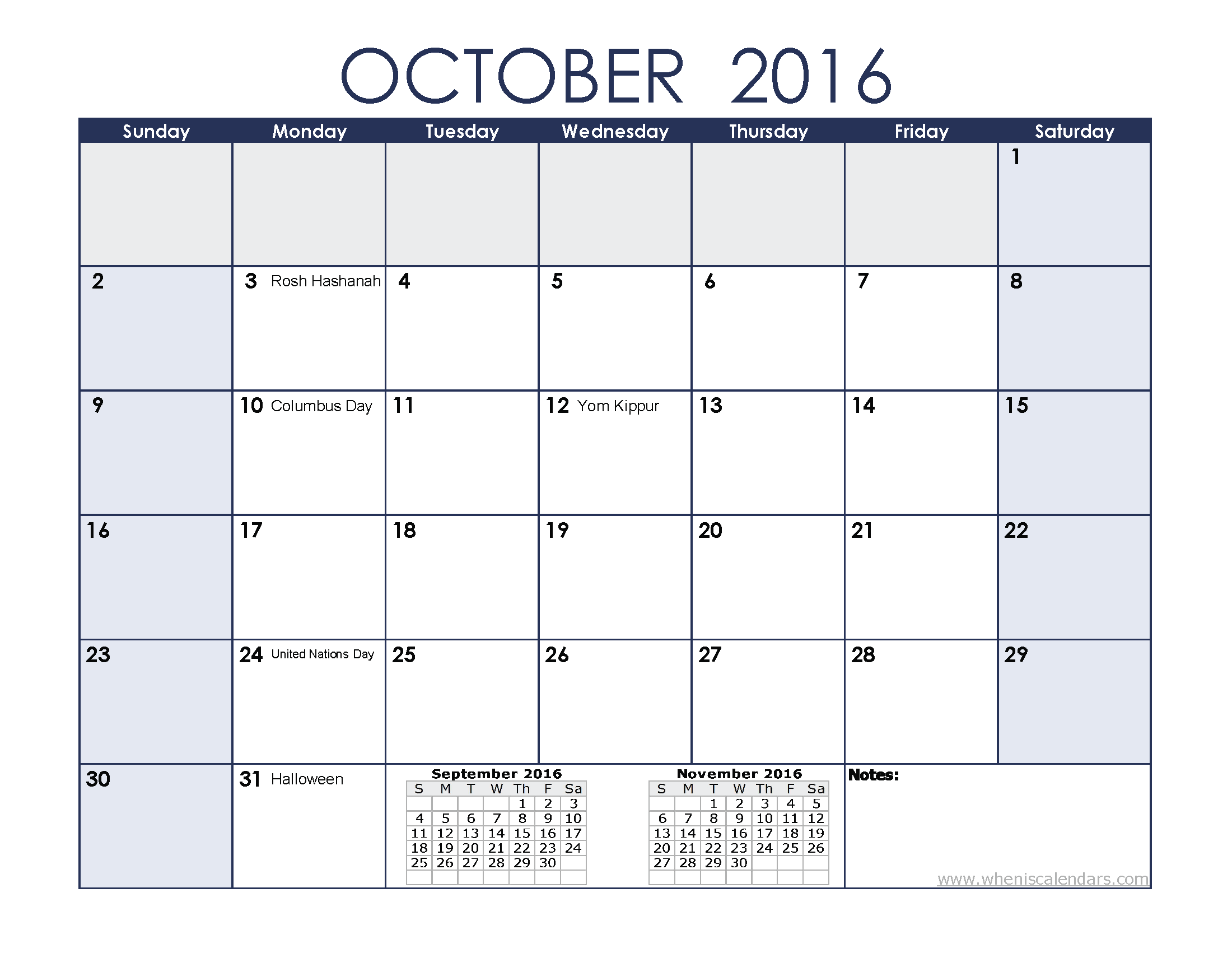 Clipart calendar october 2016. Clipartfest