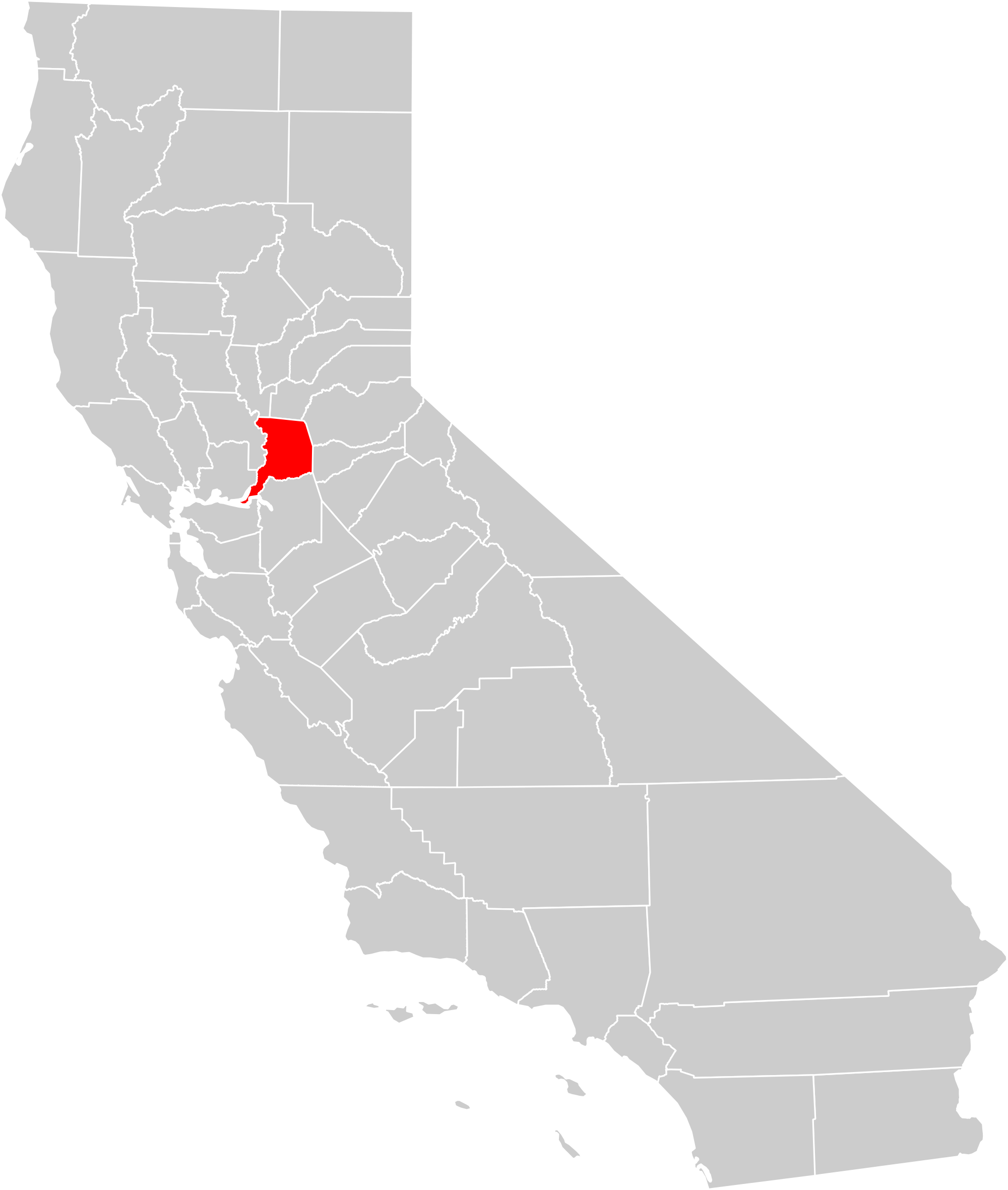 Clipart map of california image black and white download File:California county map (Sacramento County highlighted).svg ... image black and white download