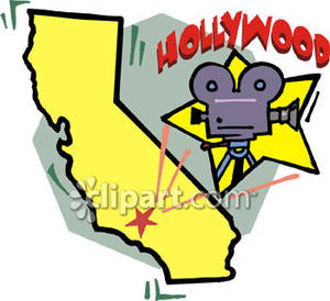 Clipart california map graphic free Star on Map of California - Royalty Free Clipart Picture graphic free