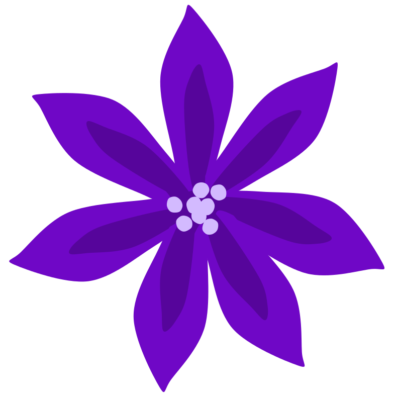 Elegant purple flower clipart graphic freeuse stock Lily Flower Clipart at GetDrawings.com | Free for personal use Lily ... graphic freeuse stock