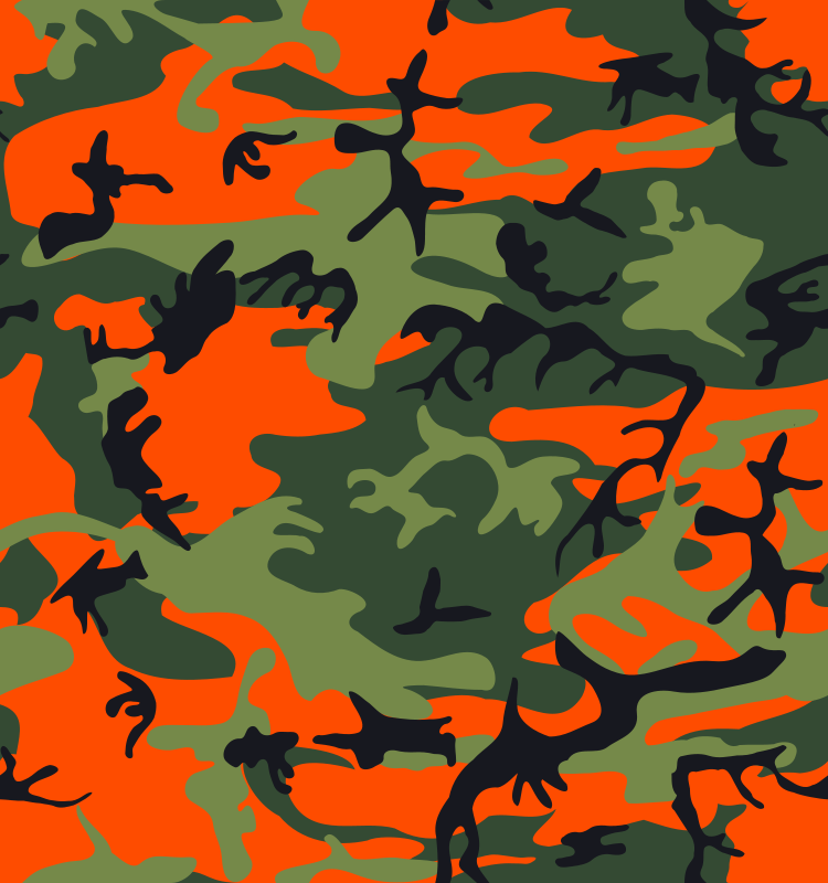 Clipart camo clipart library library Free Clipart: Camo Print - Hunter Orange | eady clipart library library