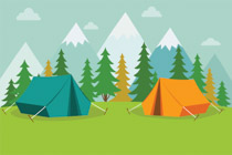 Tent by lake clipart free clipart stock Free Camping Clipart - Clip Art Pictures - Graphics - Illustrations clipart stock