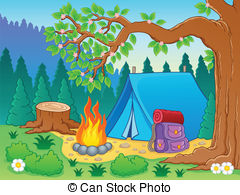Clipart campground graphic royalty free library Campground Clip Art and Stock Illustrations. 1,660 Campground EPS ... graphic royalty free library