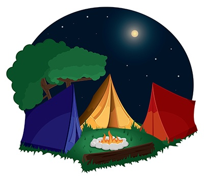 Clipart campground vector black and white library Free Camping Cliparts, Download Free Clip Art, Free Clip Art on ... vector black and white library