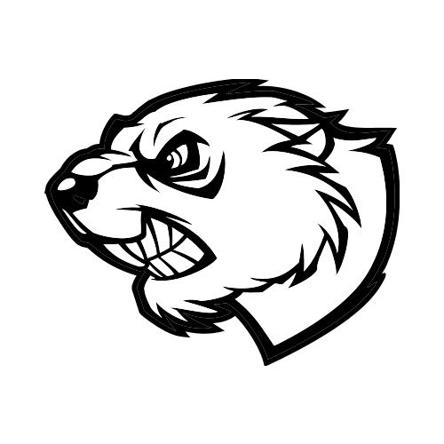 Clipart canada lacrosse beaver svg free stock BEAVER-SIDE-BW Clip Art - Get Started At ThatShirt! svg free stock
