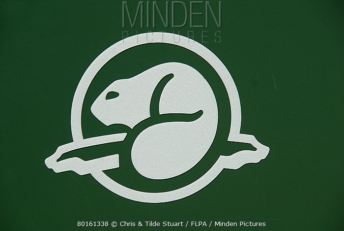 Clipart canada lacrosse beaver clip freeuse Minden Pictures stock photos - Beaver logo of \'Parks Canada ... clip freeuse