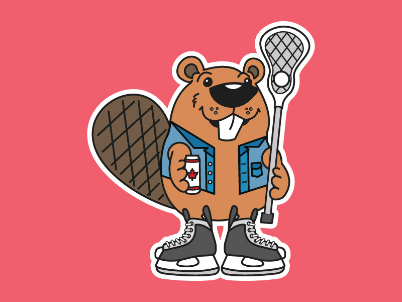 Clipart canada lacrosse beaver png black and white stock Canadian Tuxedo by Sarah Bono on Dribbble png black and white stock