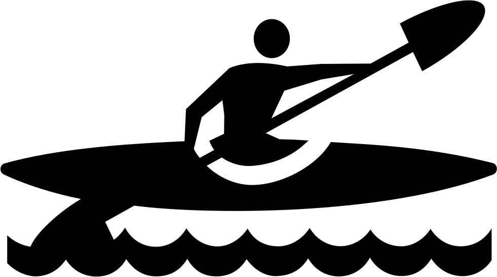 Clipart canoe kayak png black and white Boating,Canoeing,Kayaking,Recreation,Clip art,Rowing,Water sport ... png black and white