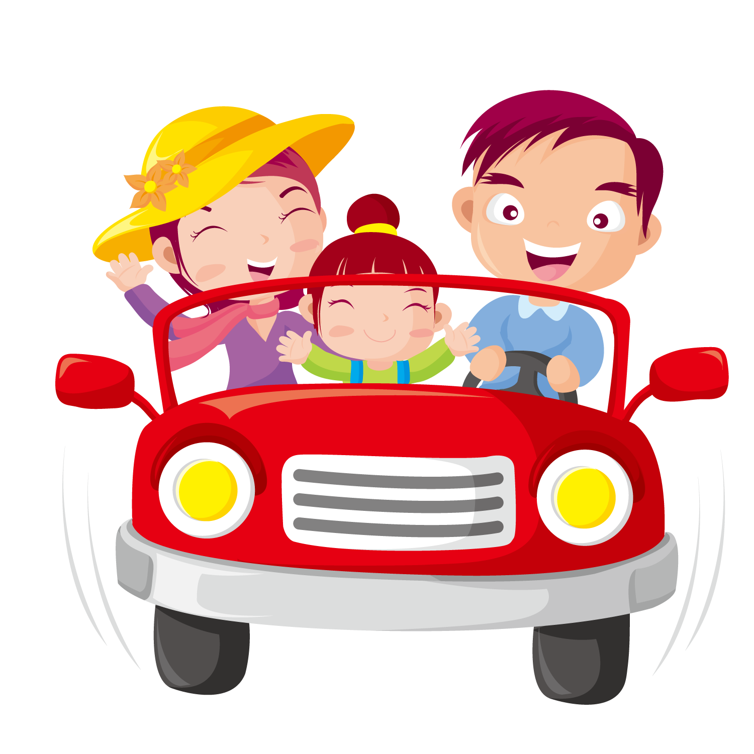 Clipart car driving on road clipart Car Child Clip art - Drive the family 1500*1501 transprent Png Free ... clipart
