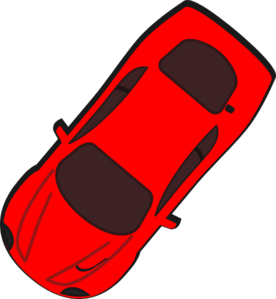 Red top view clip. Clipart car from above