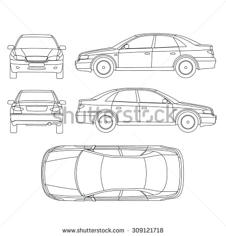 Clipart car inspection sheet banner library stock Black and white clipart car inspection sheet with different views ... banner library stock