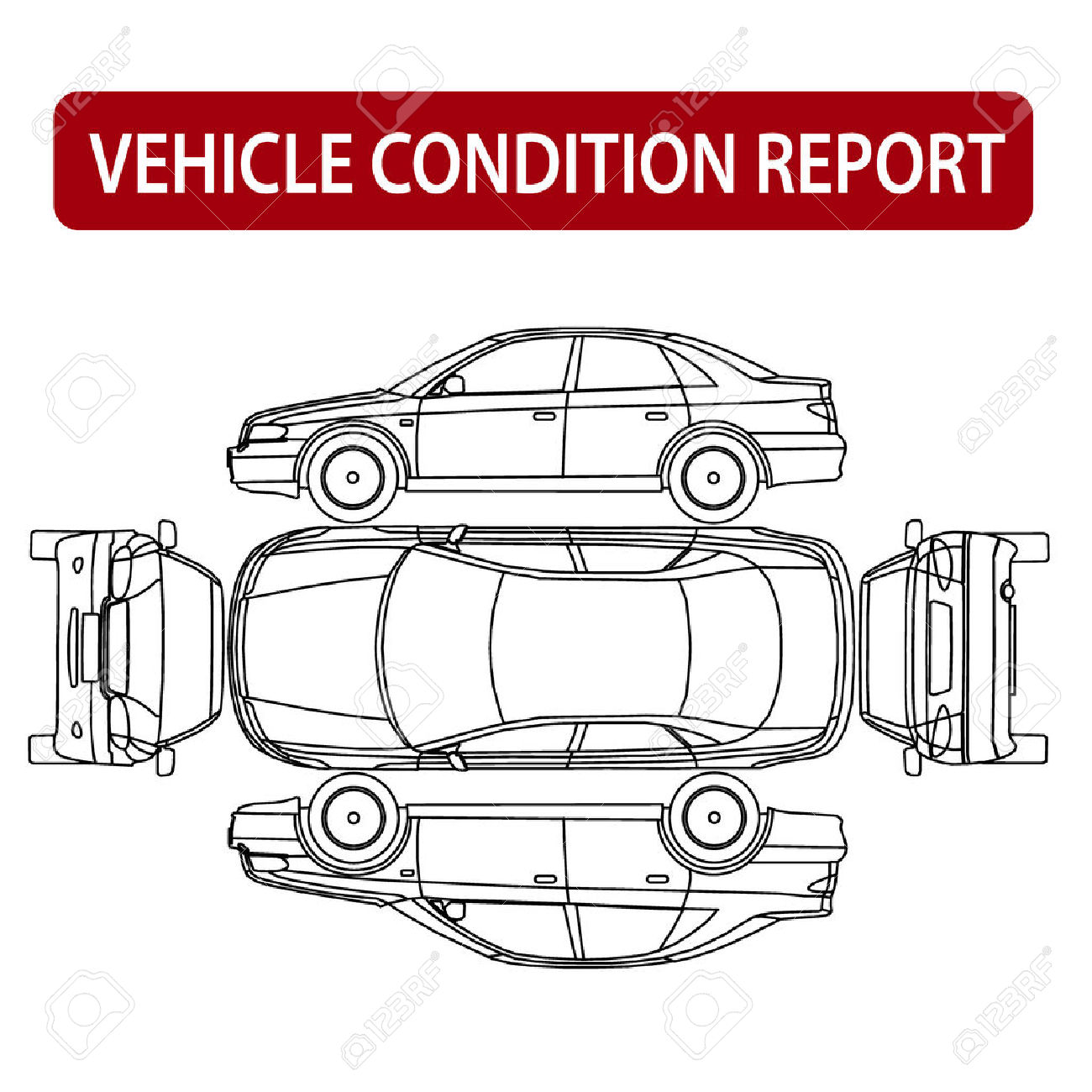 Clipart car inspection sheet png transparent download Vehicle Condition Report Car Checklist, Auto Damage Inspection ... png transparent download