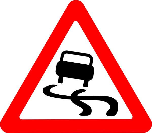 Road with car clipart graphic freeuse library Slippery Road Sign 2 Clip Art at Clker.com - vector clip art online ... graphic freeuse library