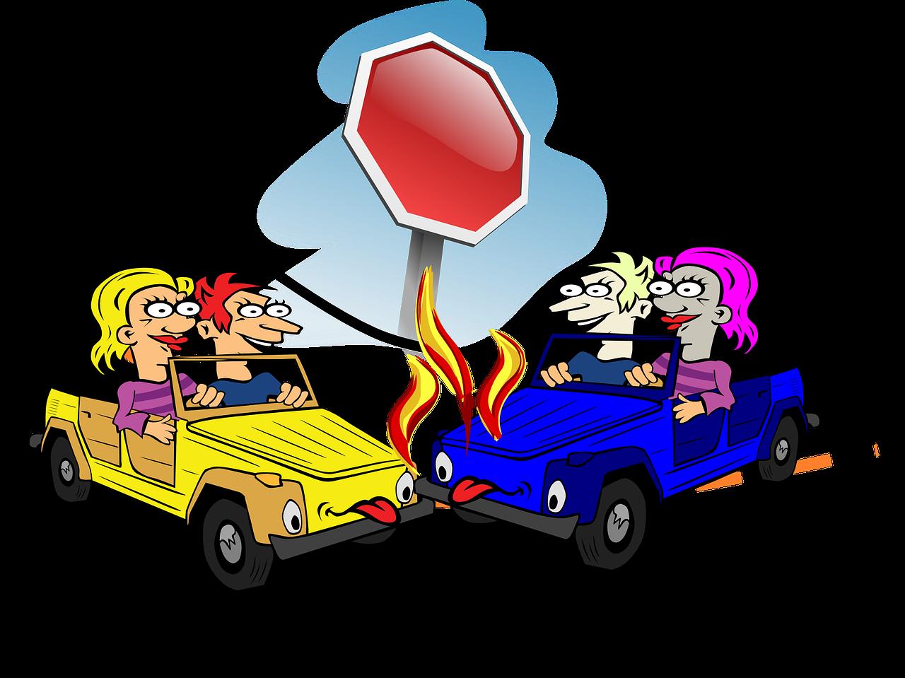 Clipart car on road svg download Crash Car Accident Stop Sign Car PNG Image - Picpng svg download
