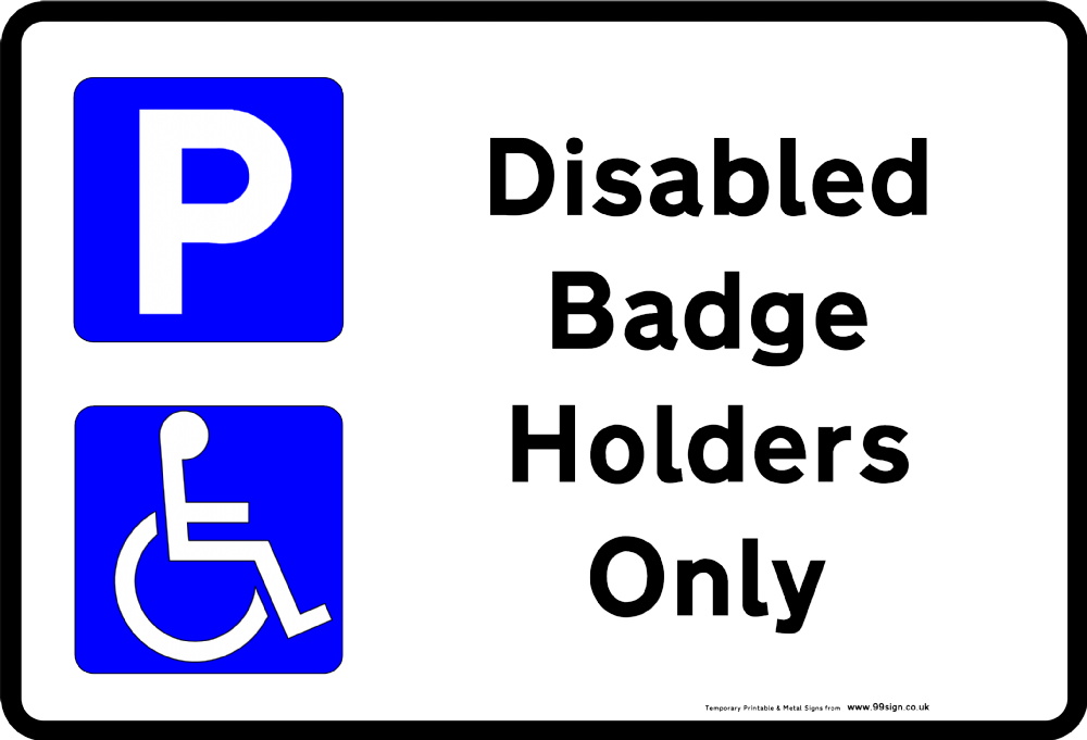 Clipart car parking image royalty free library Printable Disabled Parking sign low cost vinyl or free template ... image royalty free library