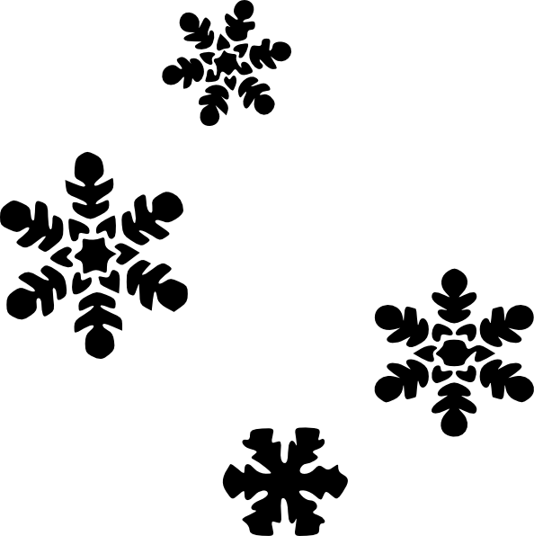 Snowflake clipart black and white png picture stock Winter Scene Silhouette at GetDrawings.com | Free for personal use ... picture stock