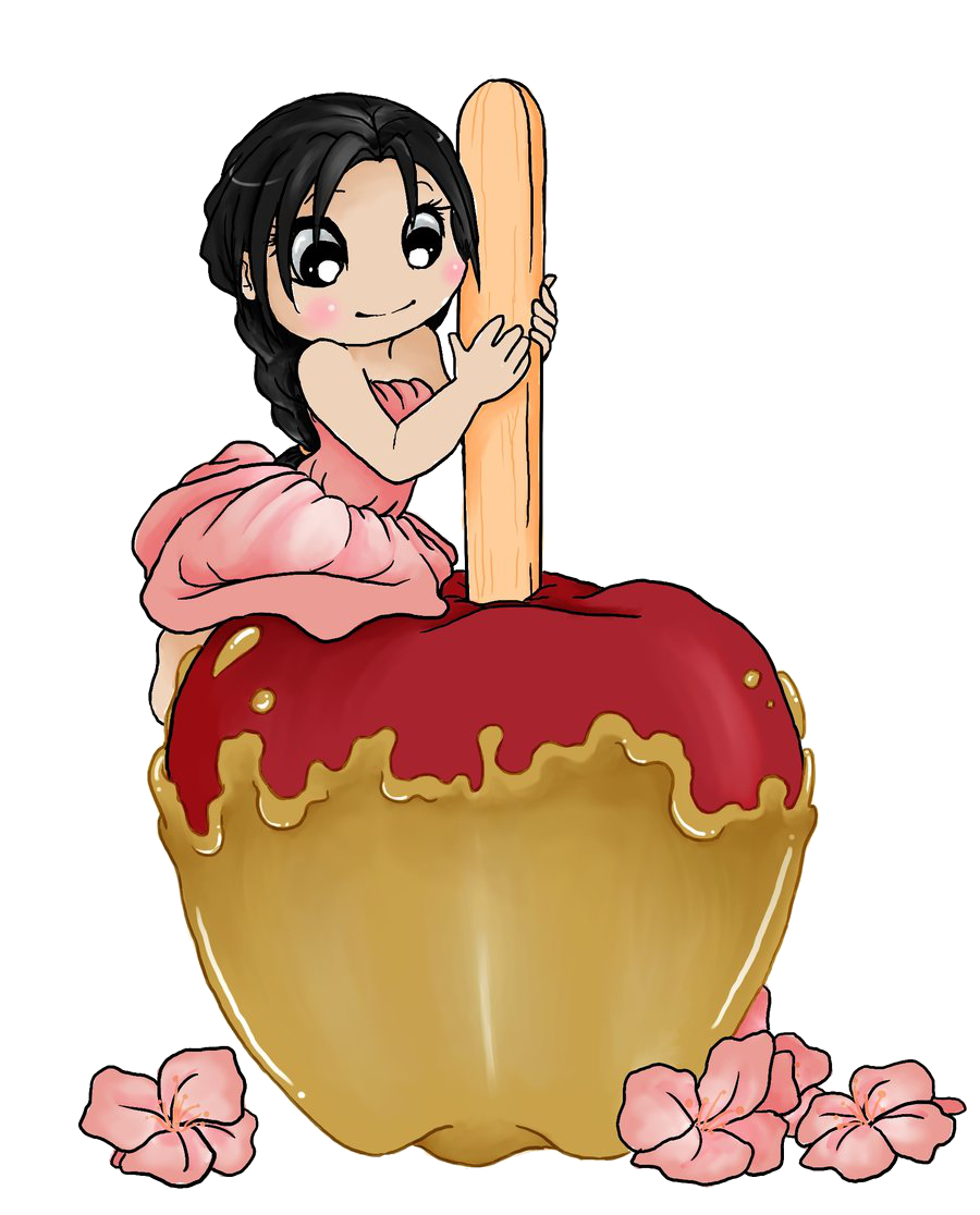 Clipart of caramel apple clip black and white download Chibi Sweets - Caramel Apple by Art-forArts-Sake on DeviantArt clip black and white download