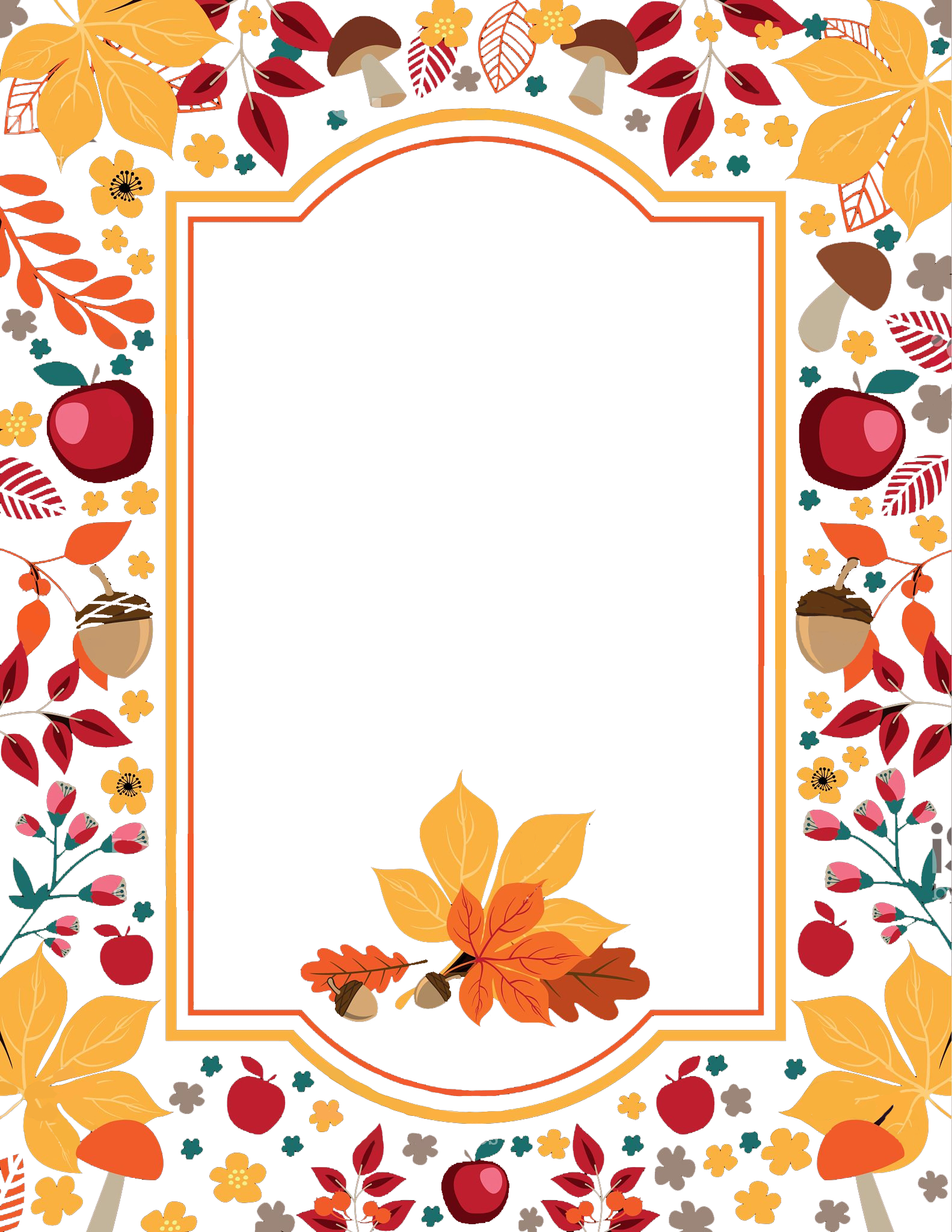 Clipart card border thanksgiving svg transparent download Free Thanksgiving Flowers Border PNG - peoplepng.com svg transparent download