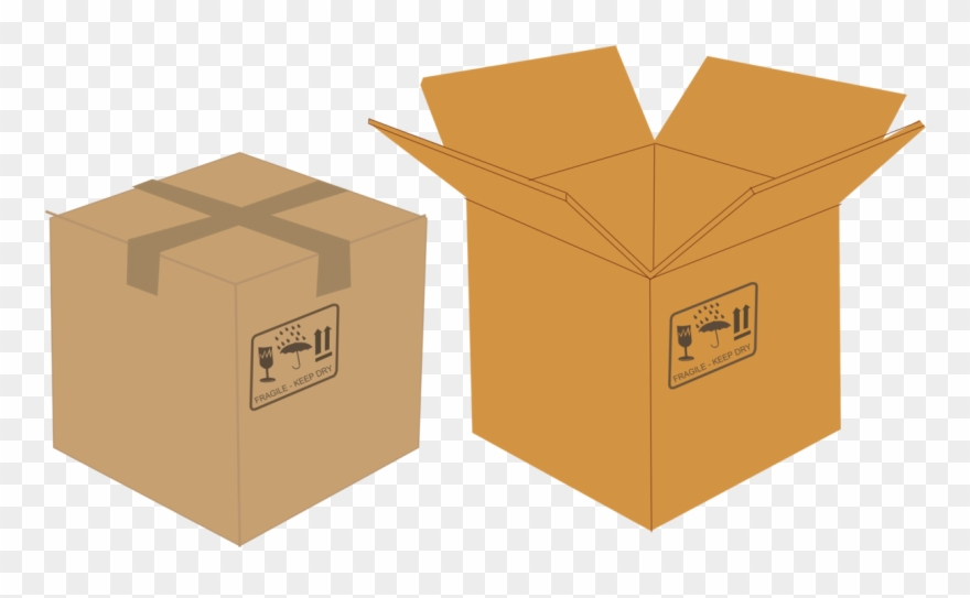 Labeling clipart picture black and white stock Paper Cardboard Box Packaging And Labeling - Open And Close Box ... picture black and white stock