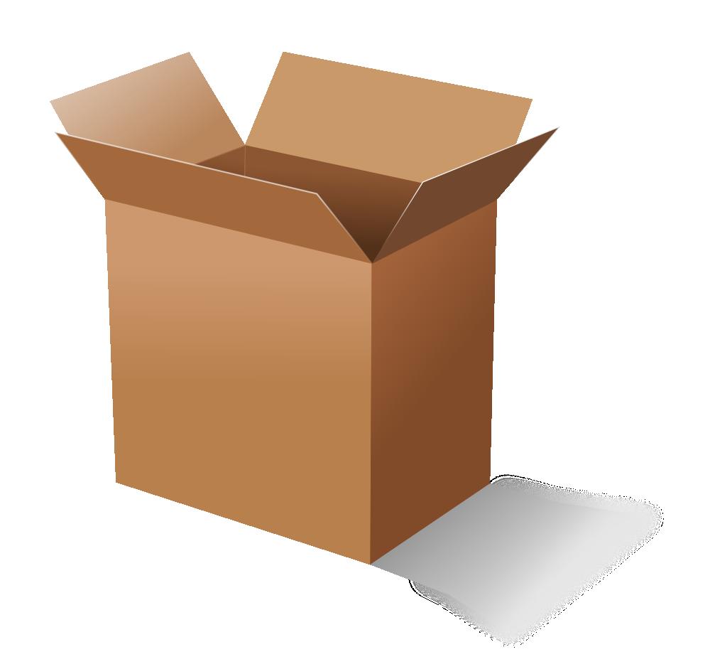 Clipart cardboard box jpg library OnlineLabels Clip Art - Cardboard Box jpg library