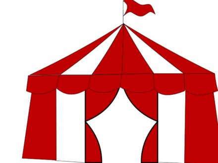Clipart carnival tent svg free stock Circus Tent Clipart Black And White | Free download best Circus Tent ... svg free stock