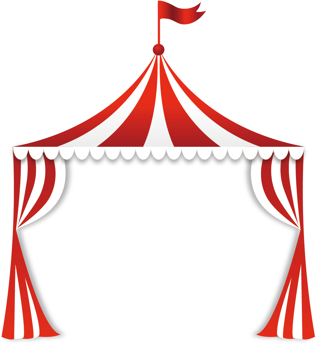 Clipart carnival tent graphic library download Circus Tent Clip Art - Circus Tent Top Clipart - Png Download - Full ... graphic library download
