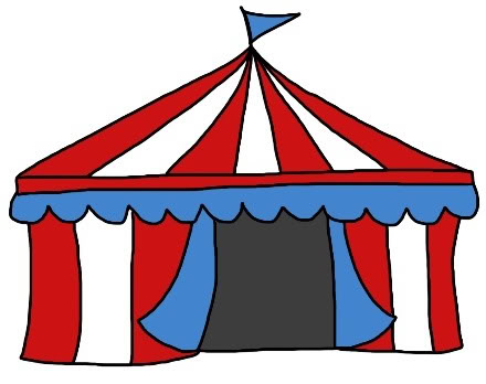 Clipart carnival tent clipart black and white library Free Circus Tent Pics, Download Free Clip Art, Free Clip Art on ... clipart black and white library