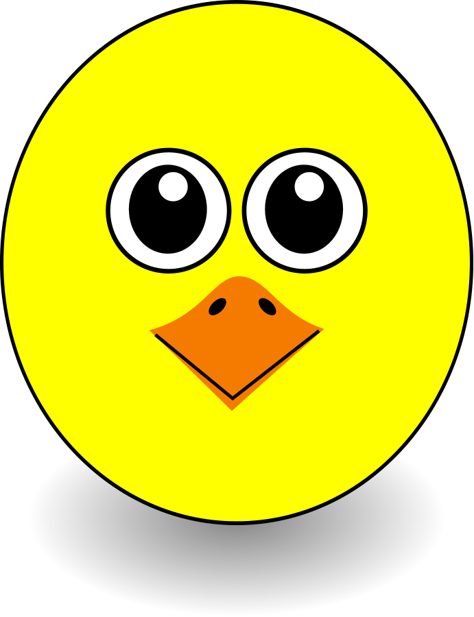 Clipart cartoon chicken face