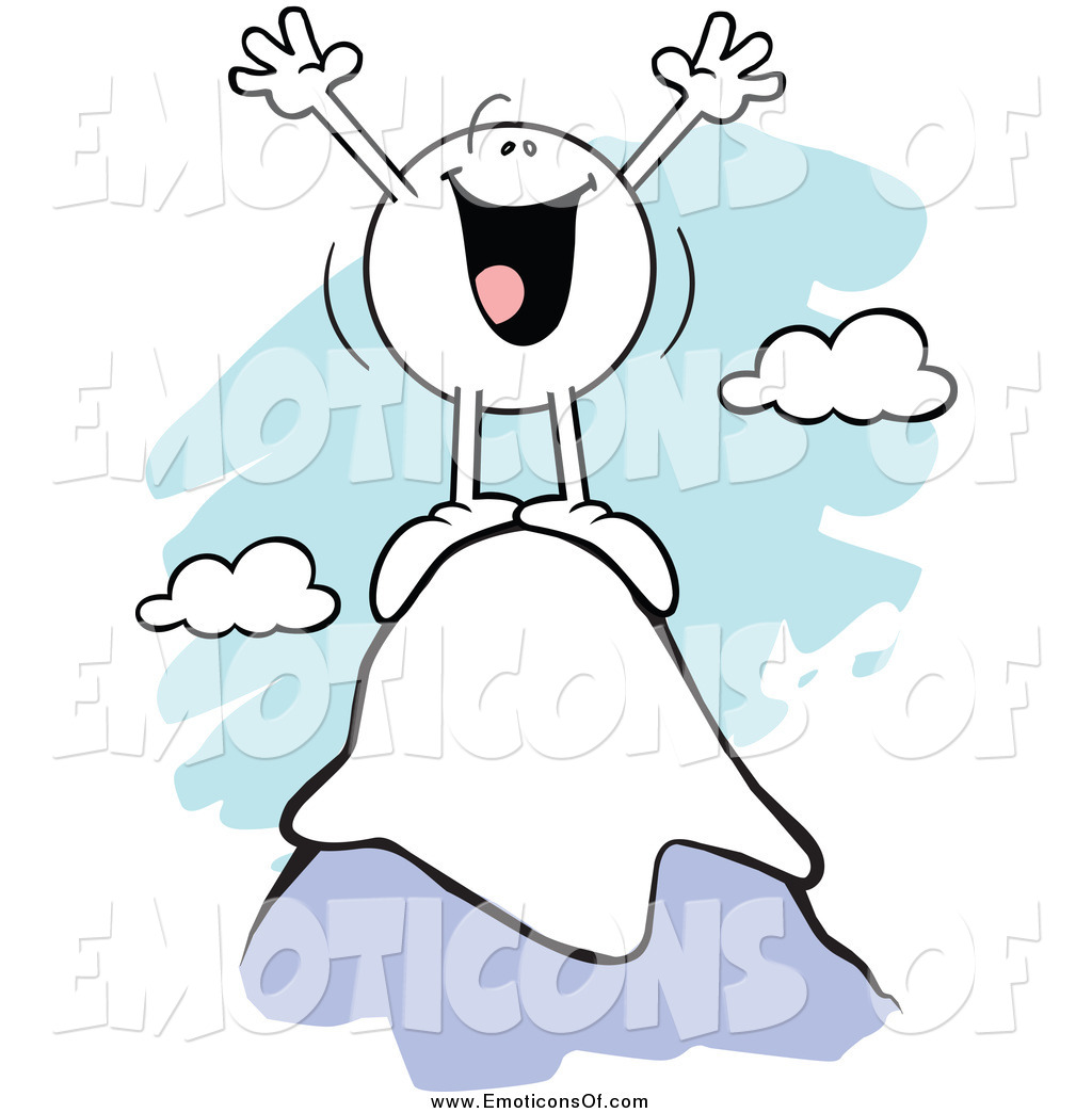 Clipart cartoon frustrated success banner transparent stock Clip Art Vector Cartoon of a Successful Cheering Emoticon on Top of ... banner transparent stock