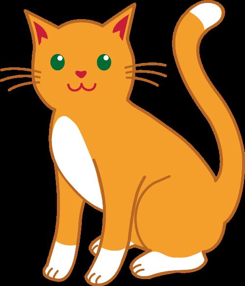 Clipart cartoon relaxed orange cat leaning on hand jpg freeuse stock Gata gorda | Clip Art | Cat clipart, Orange, white cat, Clip art jpg freeuse stock