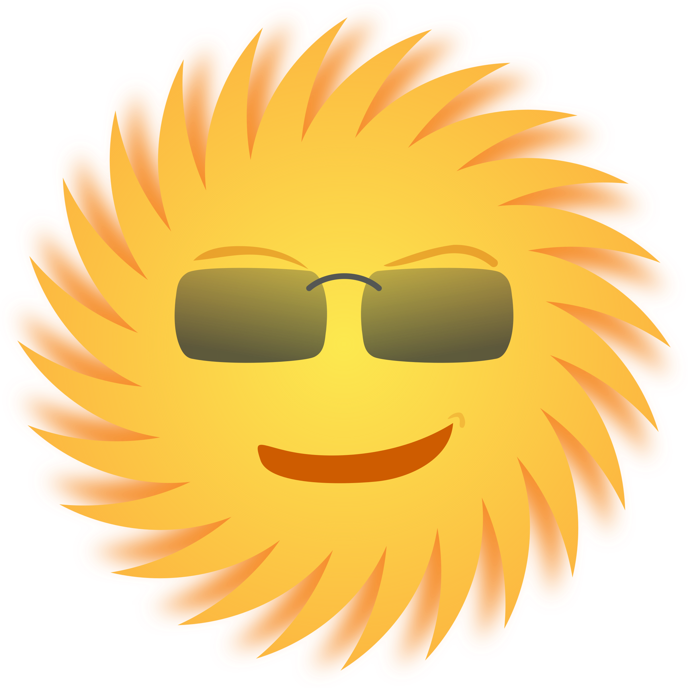 Open clipart sun clip black and white library Mr. Sun Icons PNG - Free PNG and Icons Downloads clip black and white library