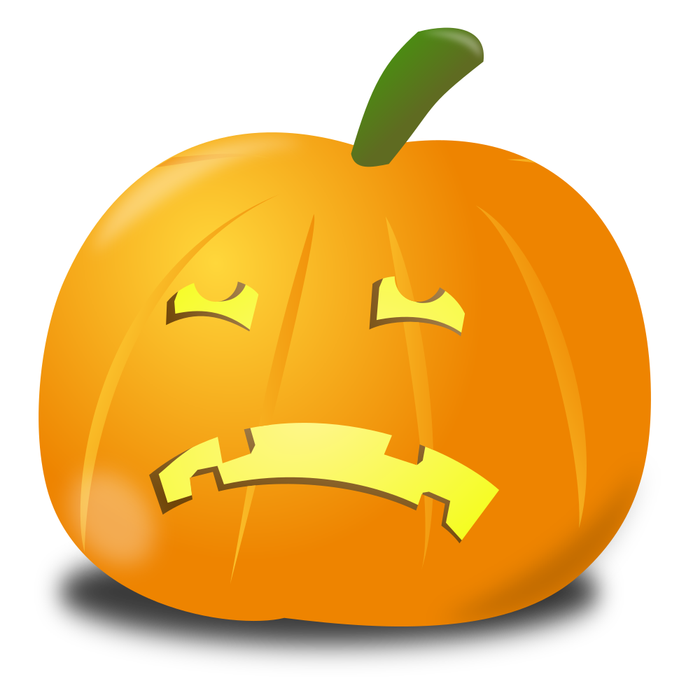Pumpkin fall clipart person banner download OnlineLabels Clip Art - Sad Pumpkin banner download