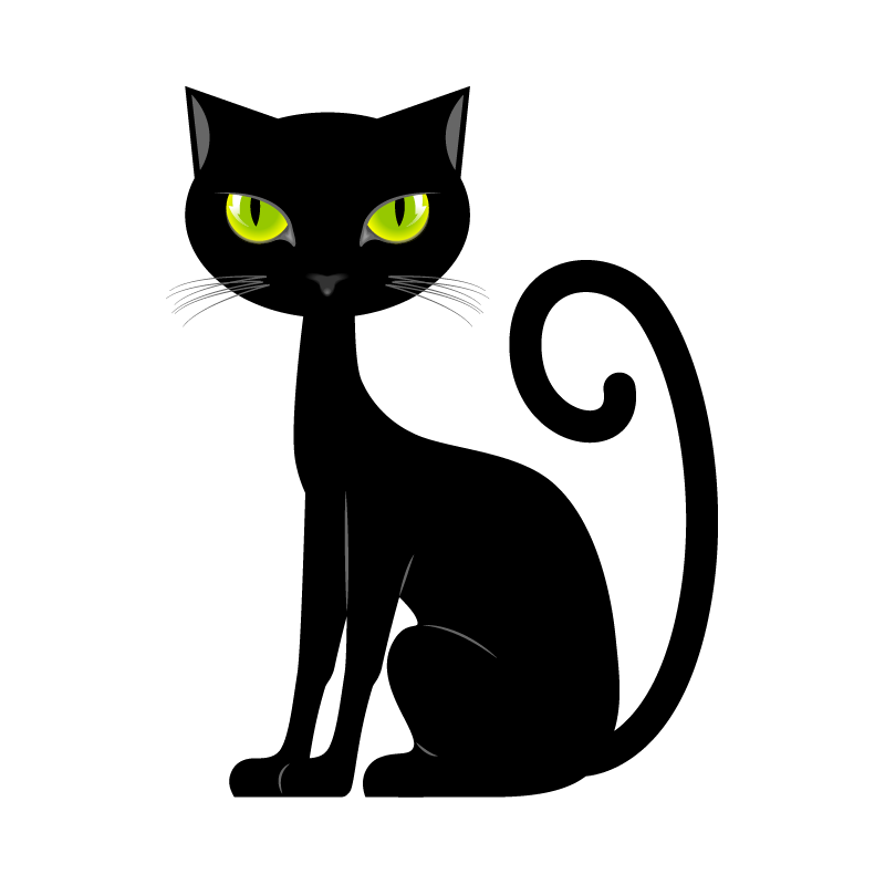 Clipart cat electrocuted png freeuse download Cat with Green Eyes Sticker, Cat Stickers, Animals Decals, Pets ... png freeuse download